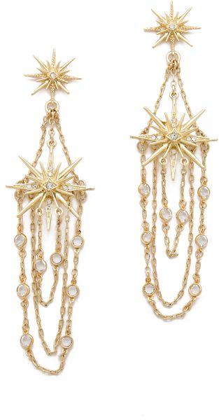 Belle Noel Vintage Glamour Earrings in Gold