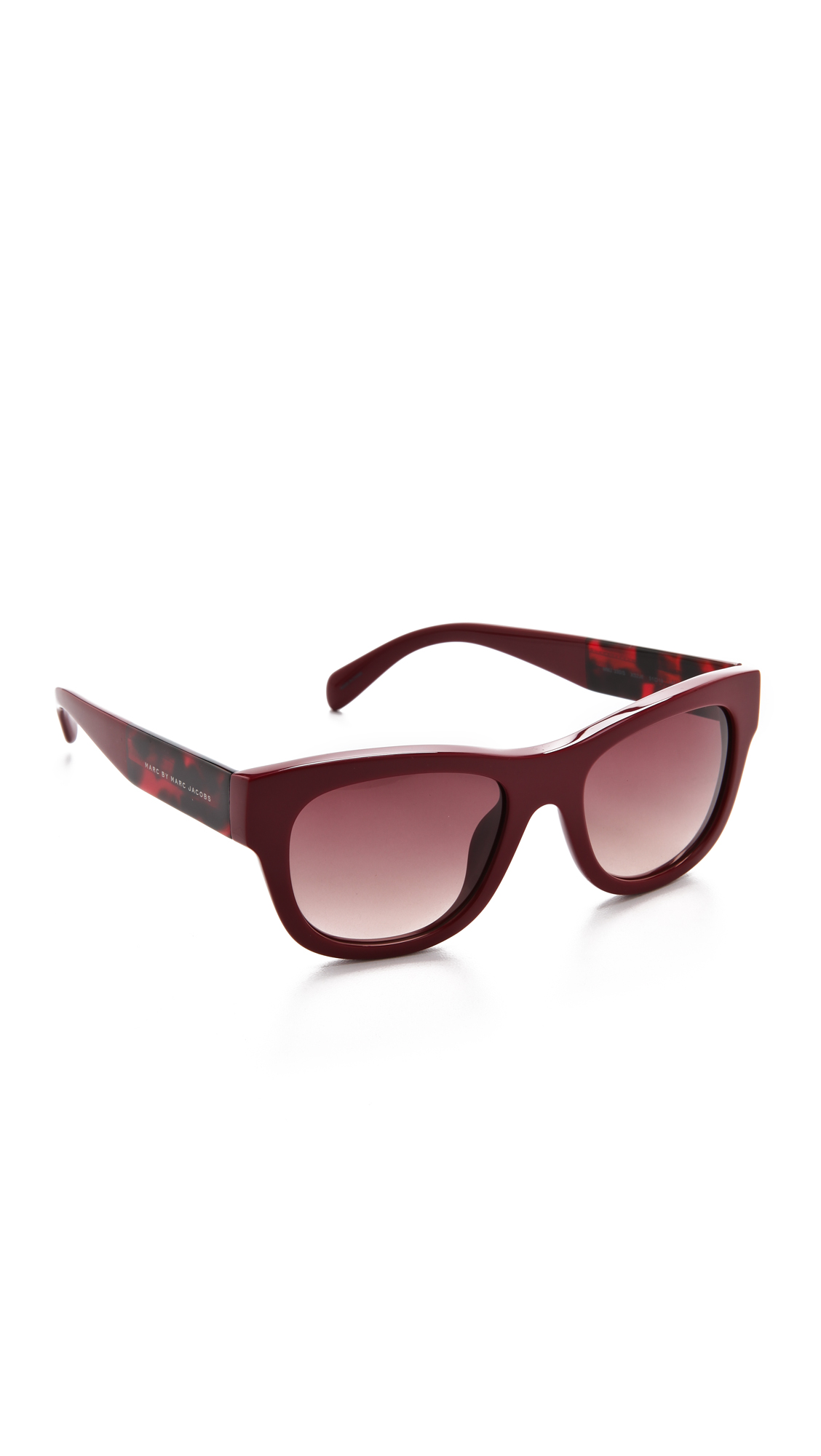 Frame Glasses Marc Jacobs : Marc by marc jacobs Thick Frame Sunglasses in Red Lyst