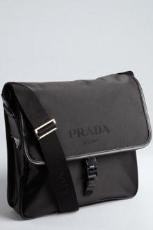 prada black leather purse - Prada Soft Leather Messenger Bag in Black for Men | Lyst