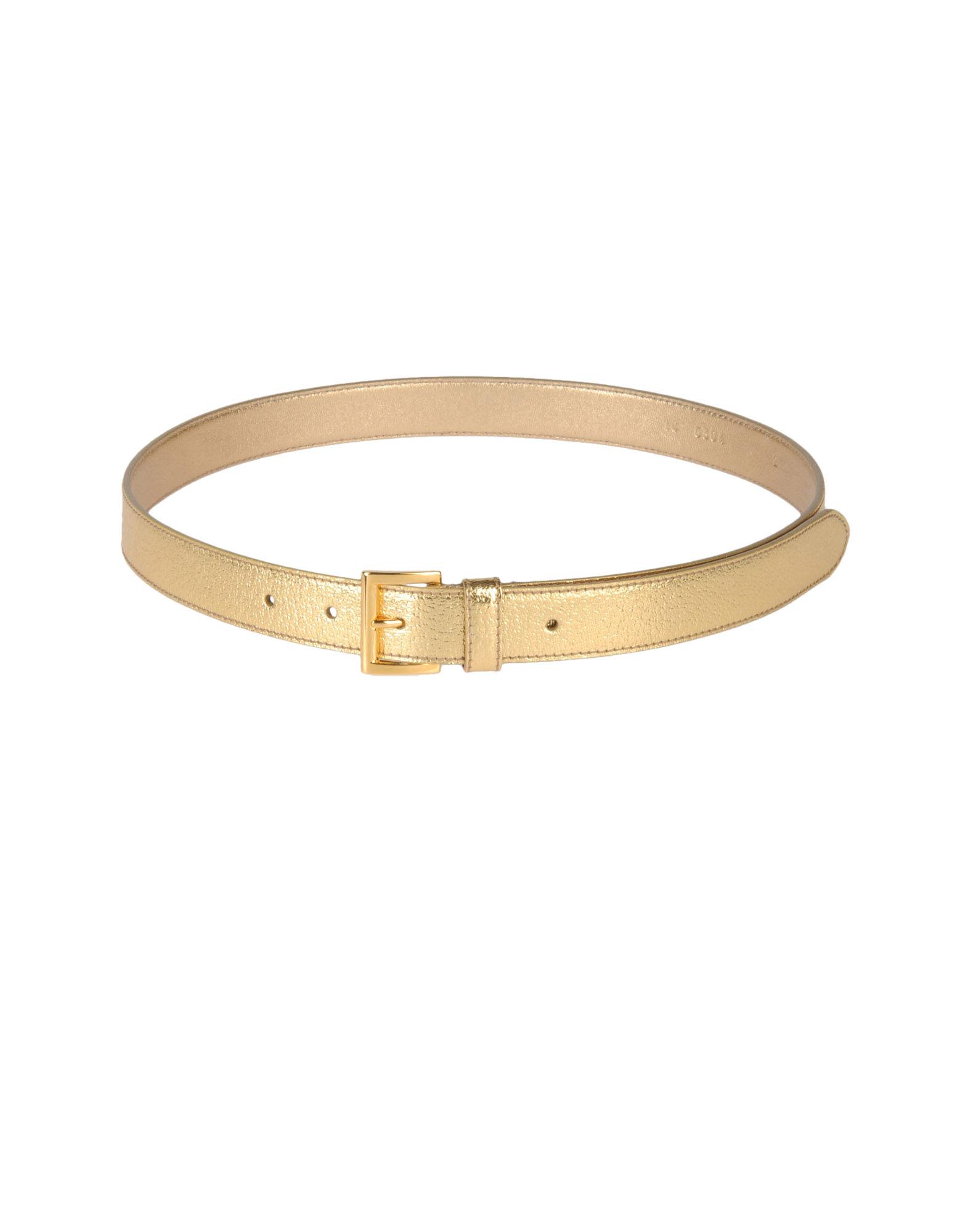 Prada Belt In Gold