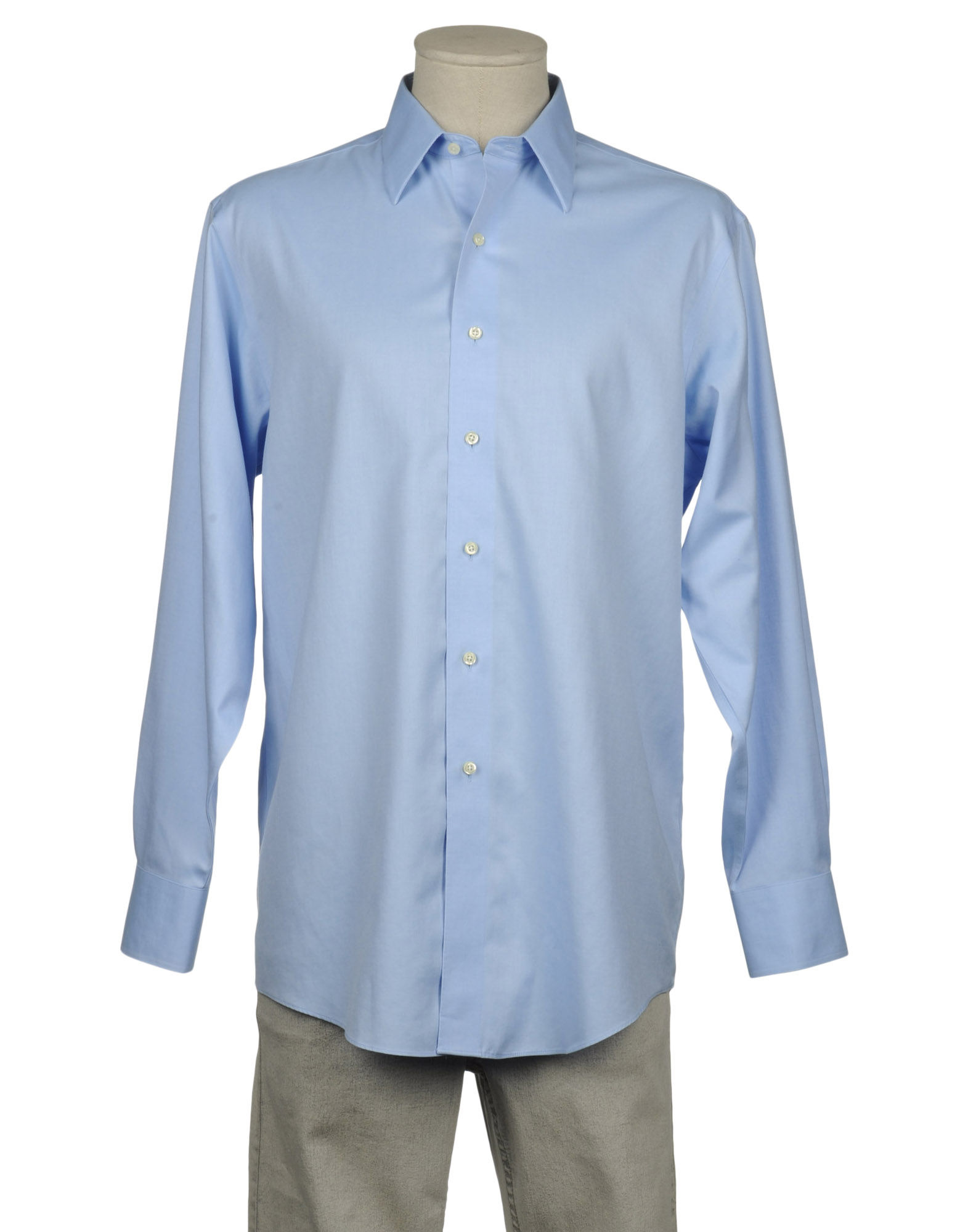 Brooks brothers long sleeve shirt in blue for men lyst for Brooks brothers dress shirt fit guide