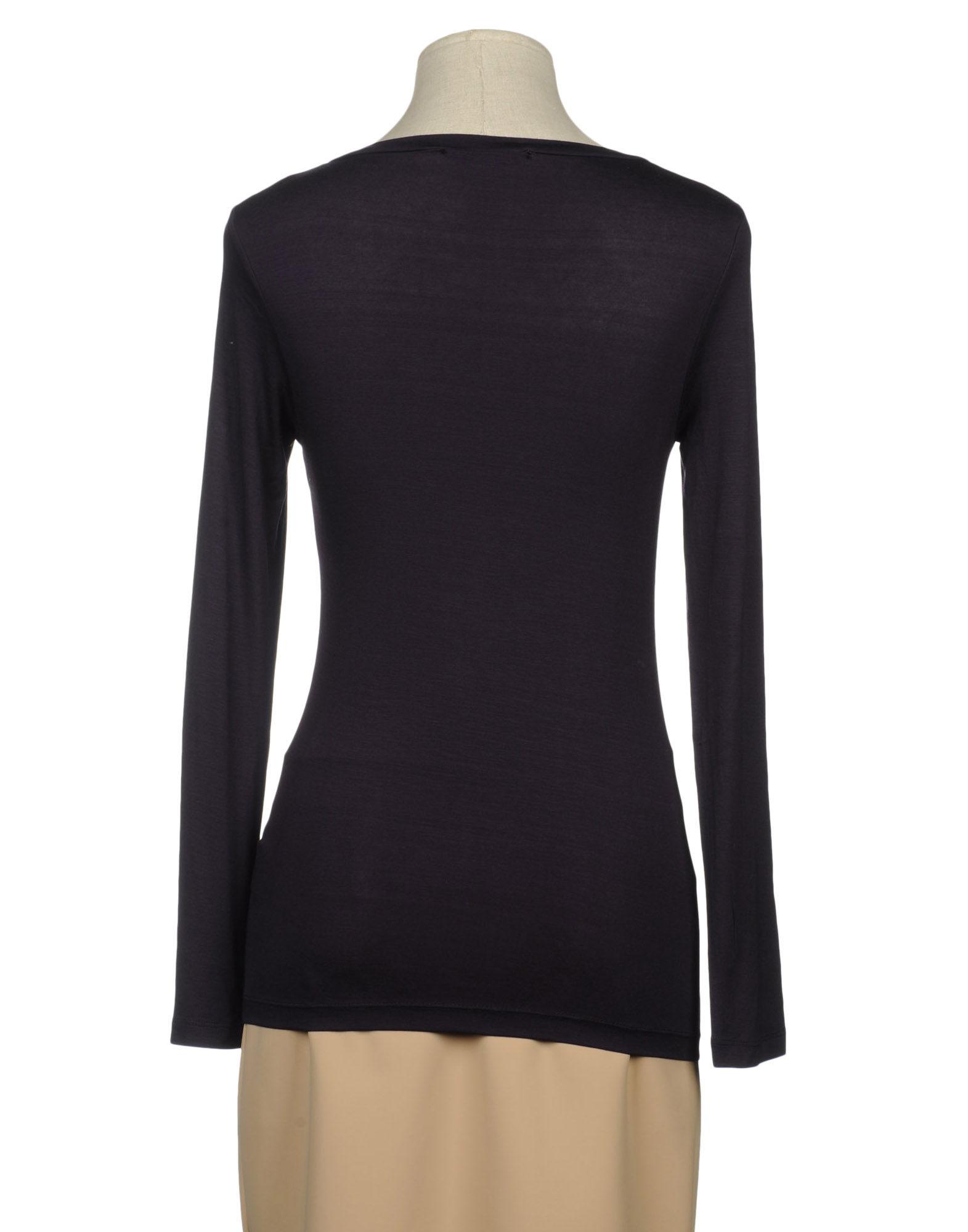 Guess Purple Long Sleeve T Shirt Lyst