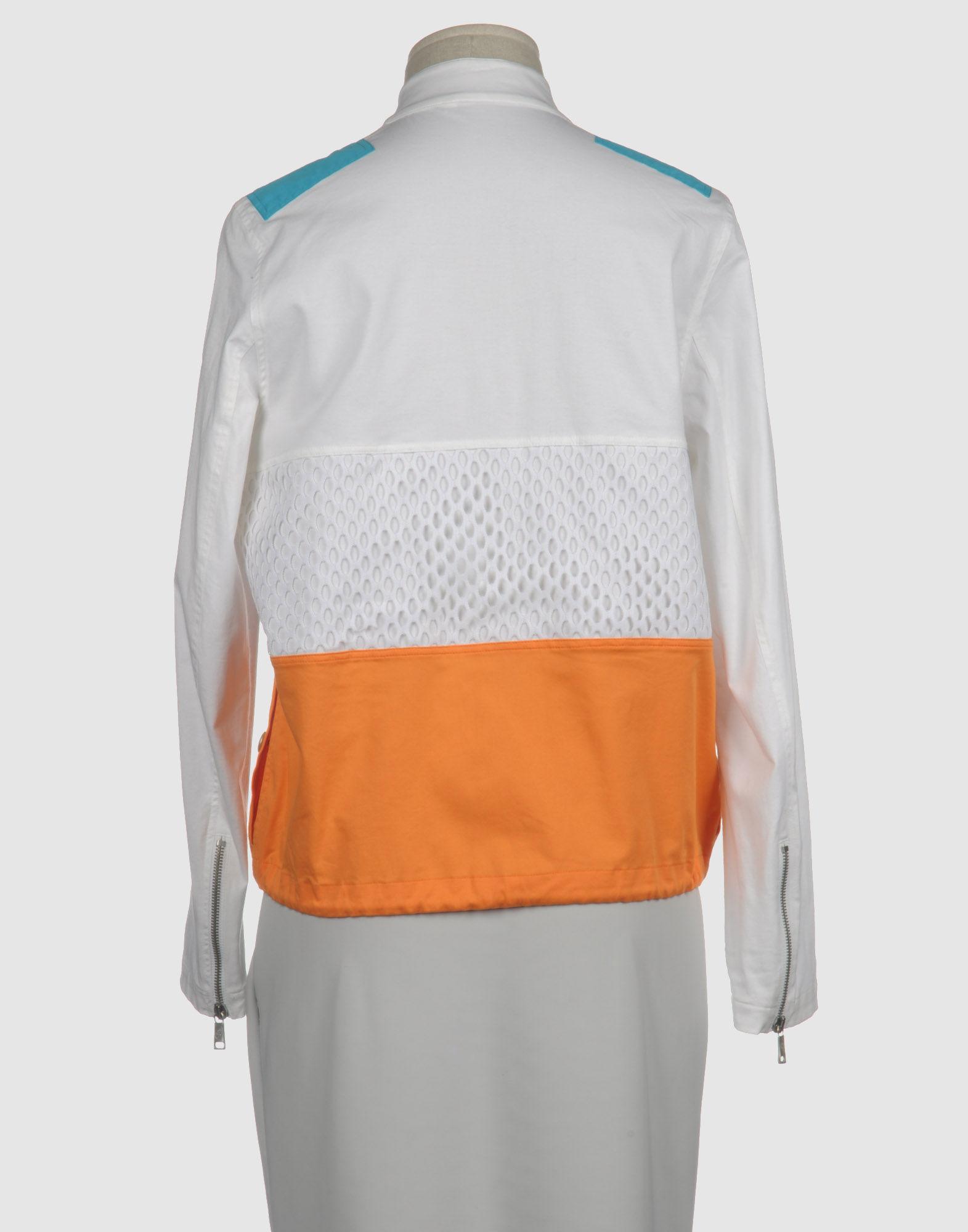 jc de castelbajac jacket in white lyst