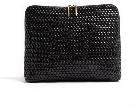 3.1 Phillip Lim Minute Quilted Bubble Clutch Bag in Black