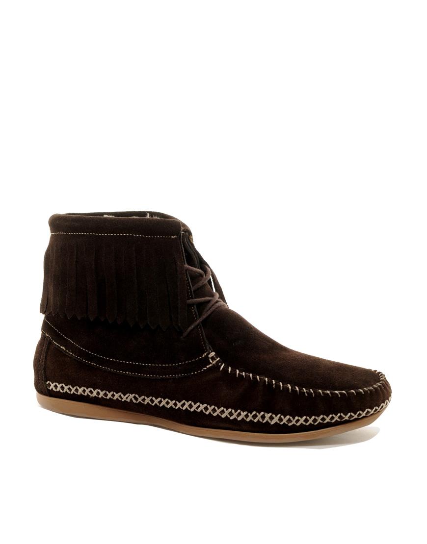 aldo sumeriski shearling fringe shoes in brown for lyst