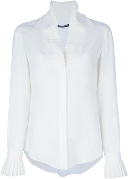 Shawl Collar Blouse White 31
