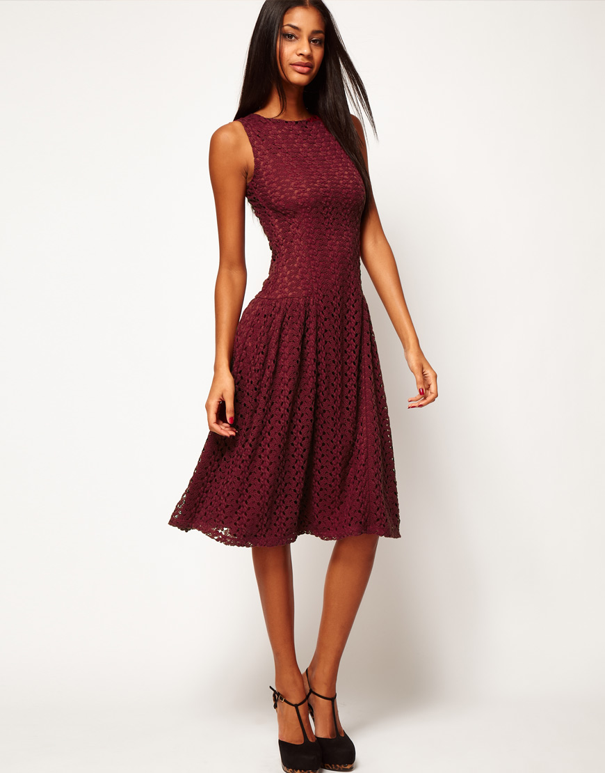 Lace crochet dress asos