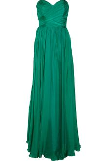 Badgley Mischka Strapless Silk Wrapeffect Gown - Lyst