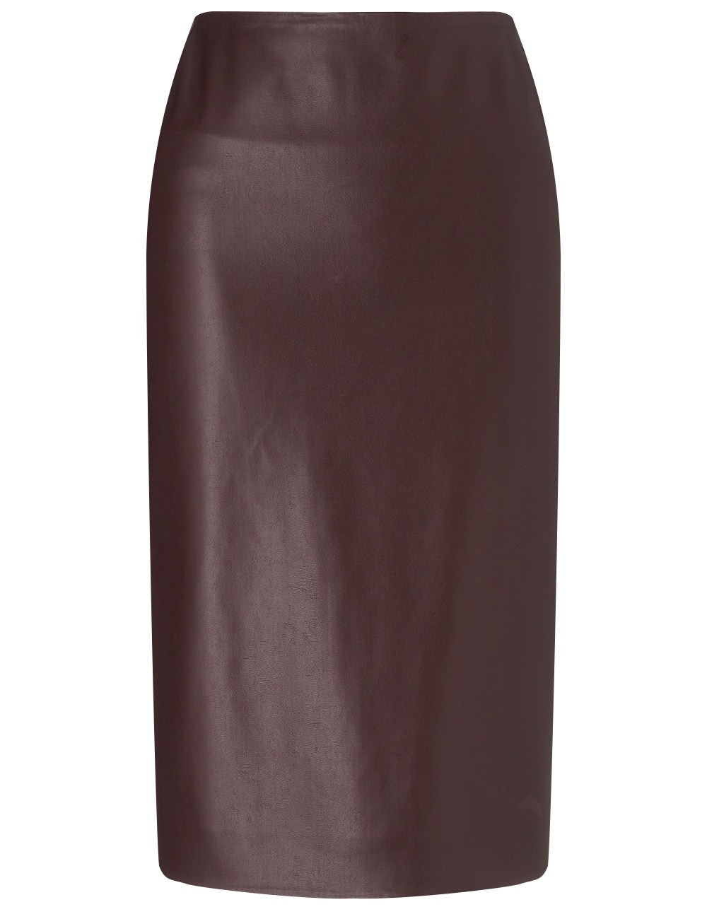 cedric charlier bordeaux faux leather pencil skirt in