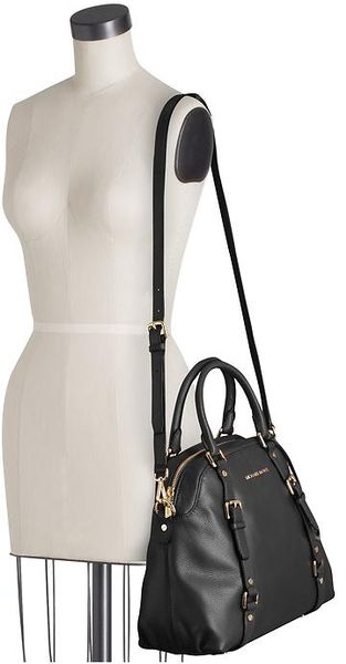 Michael By Michael Kors Bedford Large Bowling Satchel in Black - Lyst