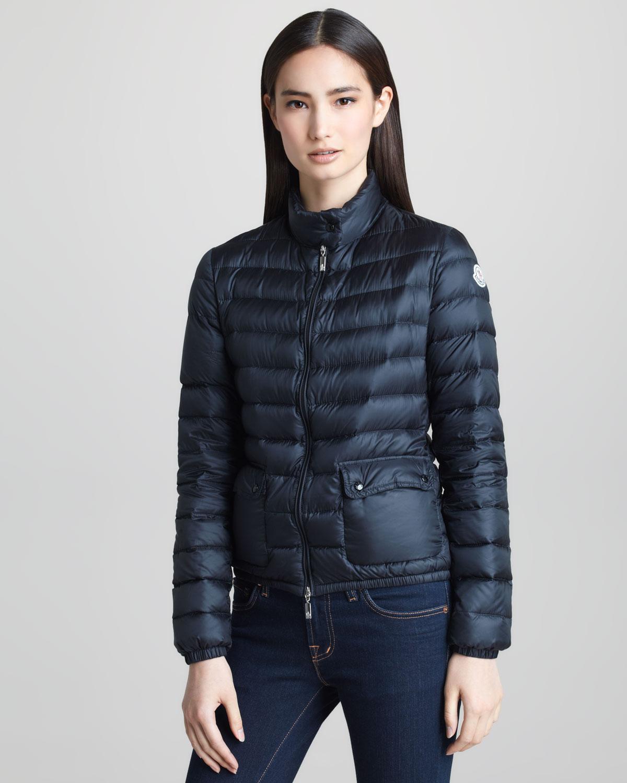8f6aad7da84c Lyst - Moncler Short Lightweight Puffer Jacket Black in Black