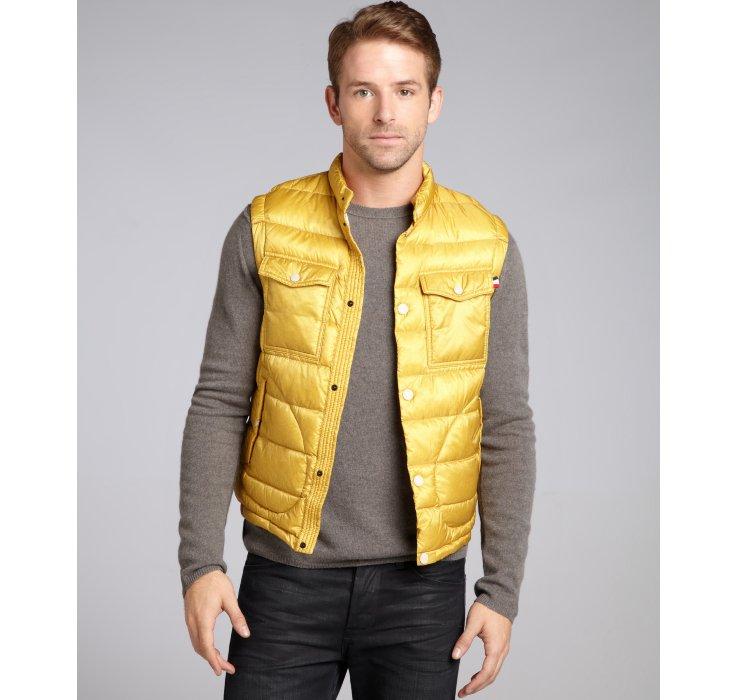 moncler yellow vest
