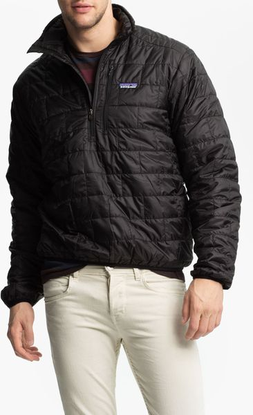 Patagonia Nano Puff Pullover Jacket In Black For Men Lyst