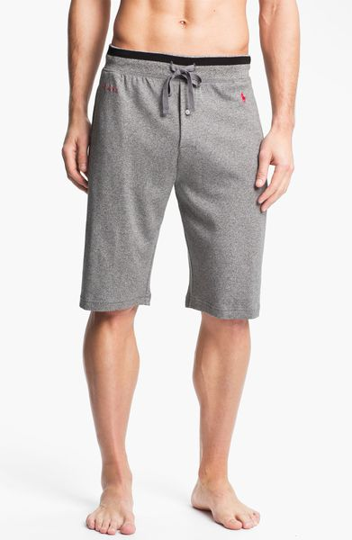 Polo Ralph Lauren Cotton Blend Shorts In Gray For Men