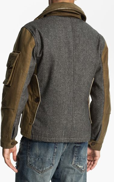 Prps Utility Waxed Canvas Field Jacket In Brown For Men Lyst