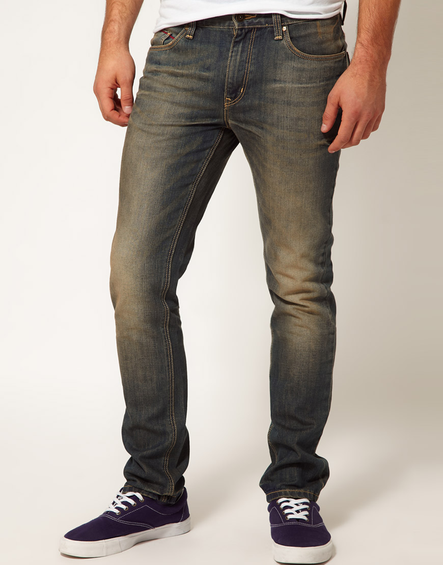 Puma Jeans Slim Fit Dirty Wash In Blue For Men Lyst