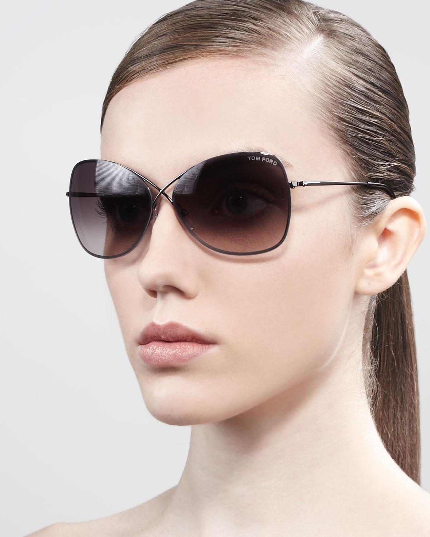 tom ford colette metalframe butterfly sunglasses in brown. Black Bedroom Furniture Sets. Home Design Ideas
