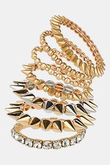 Topshop Spike Stretch Bracelets 7pack