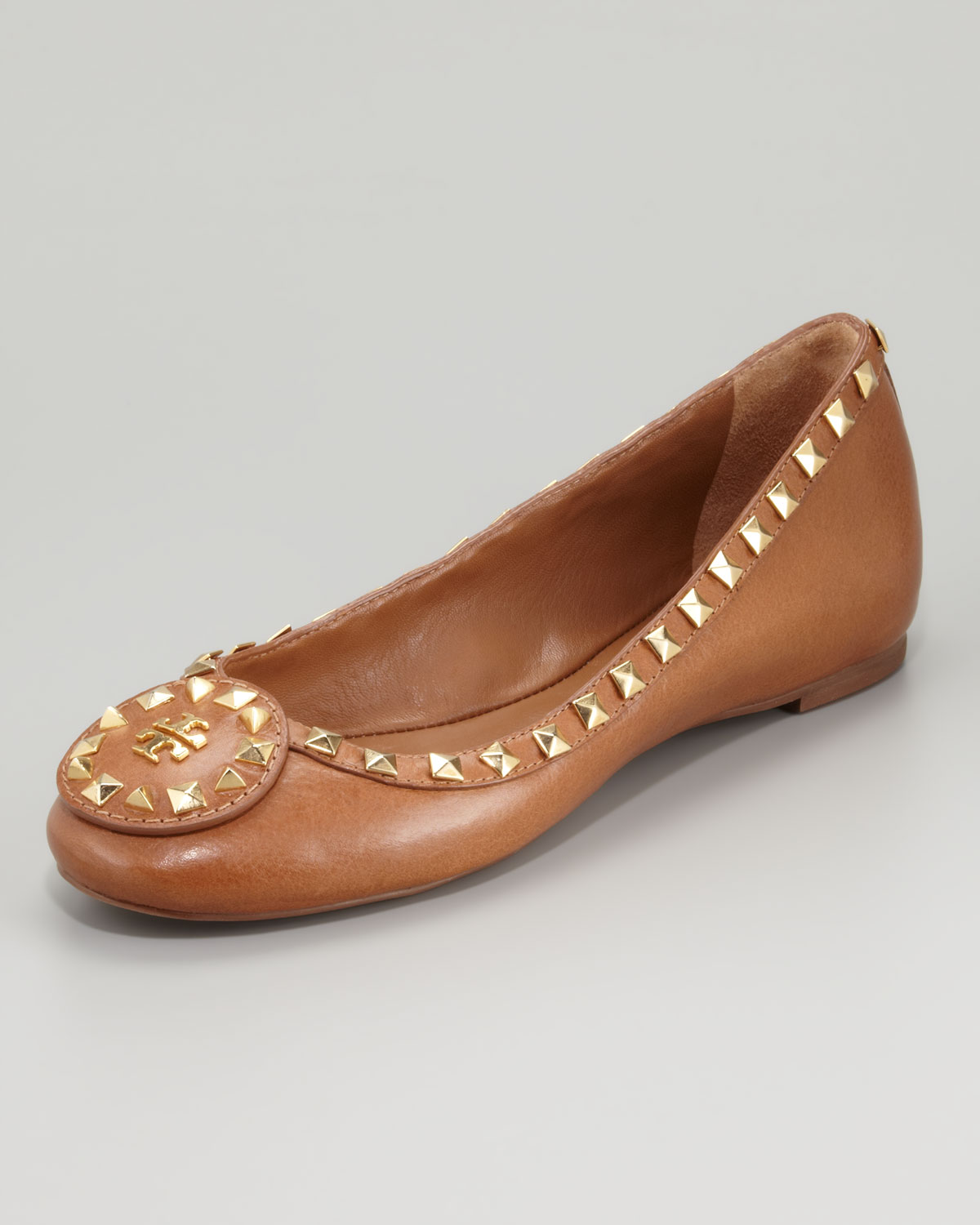 outlet with mastercard Tory Burch Stud-Embellished Round-Toe Flats sale Cheapest best seller sale online buy cheap visit cheap sale buy xJhCLYlVaQ