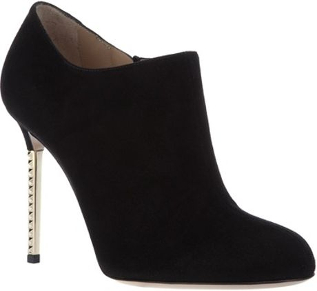 Valentino Studded Heel Bootie in Black