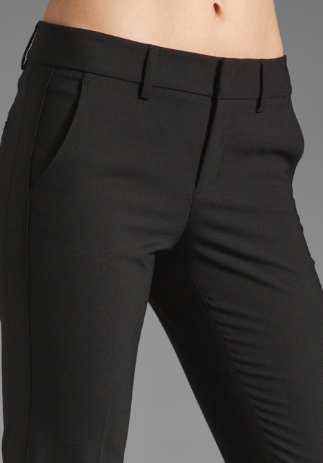 Vince Side Strapping Trouser In Black Lyst