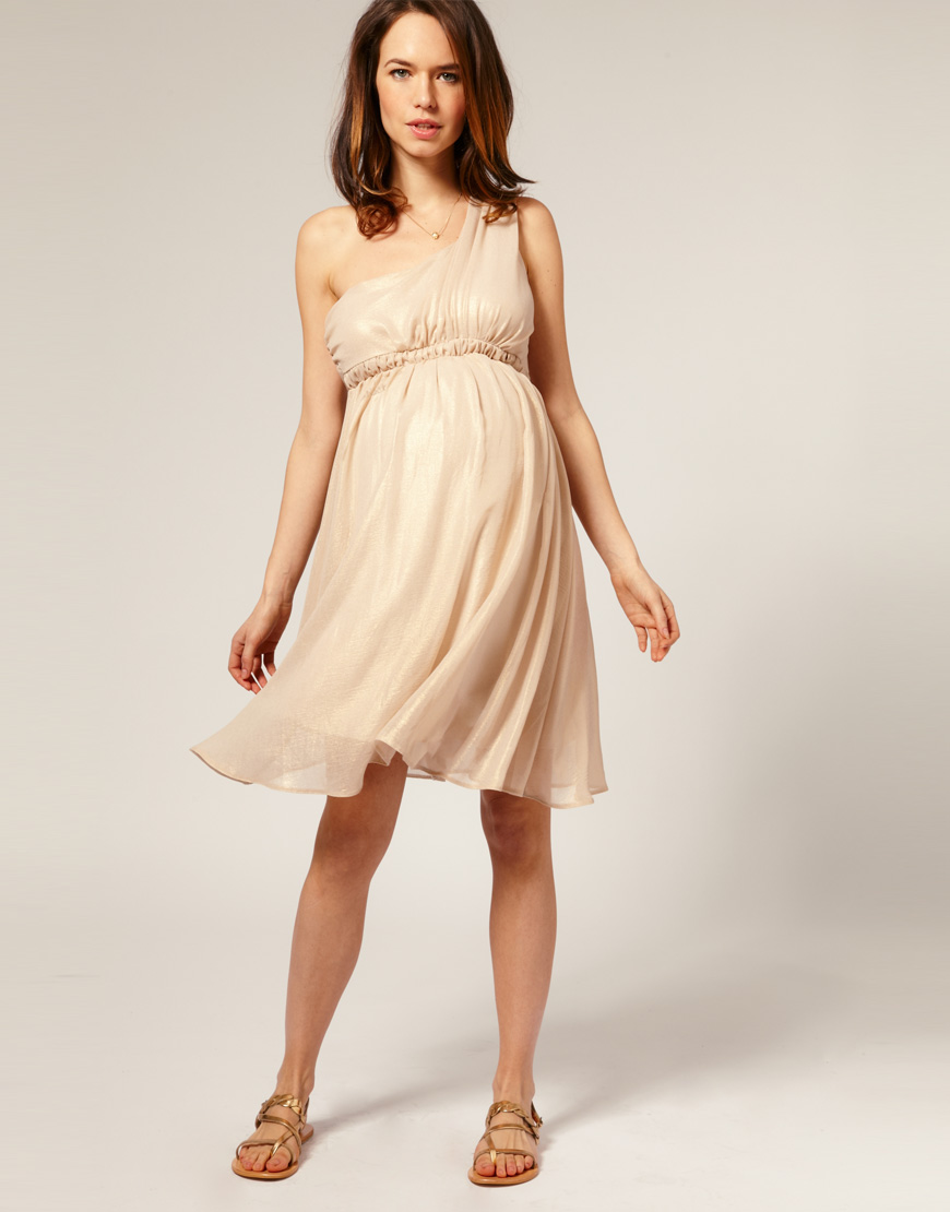 One Shoulder Maternity Dresses