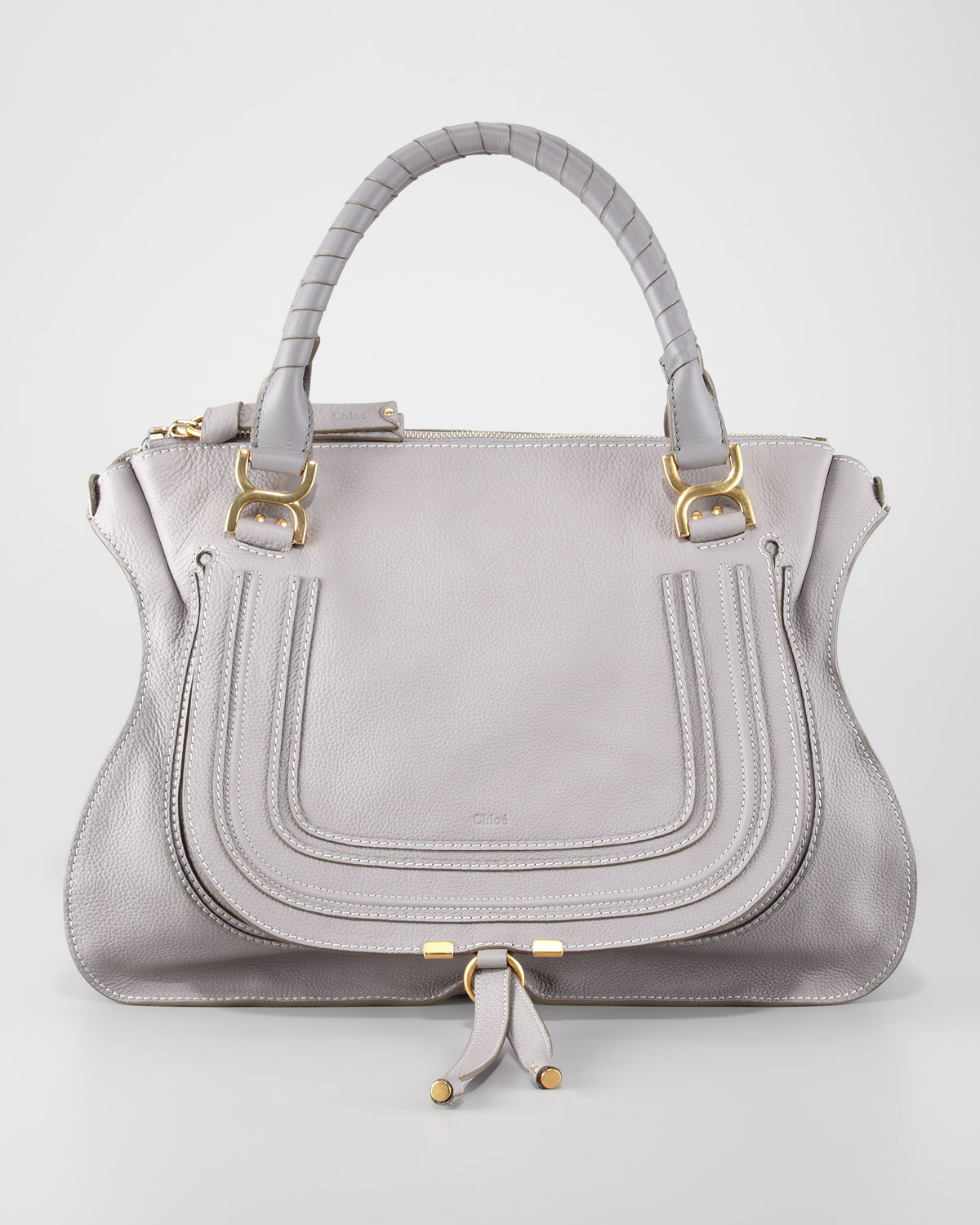 chlo marcie large shoulder bag cashmere gray in gray cashmere grey lyst. Black Bedroom Furniture Sets. Home Design Ideas