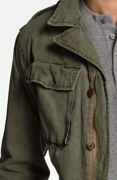 scotch soda military jacket in green for men army. Black Bedroom Furniture Sets. Home Design Ideas