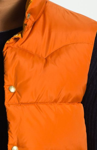 Scotch Amp Soda Reversible Quilted Vest In Orange For Men Lyst