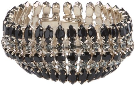 Stella Mccartney Gem Bracelet in Silver (black)