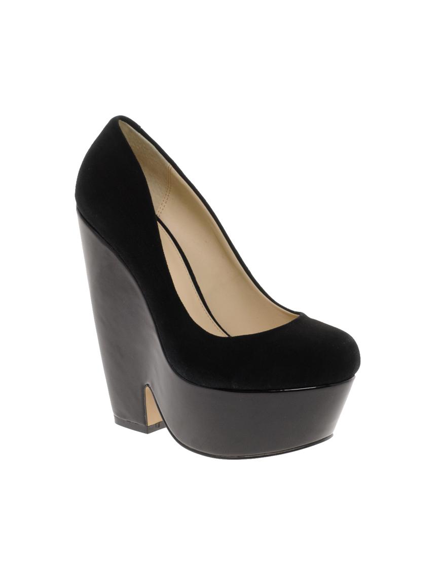 Lyst Aldo Labove Platform Wedge Shoes In Black