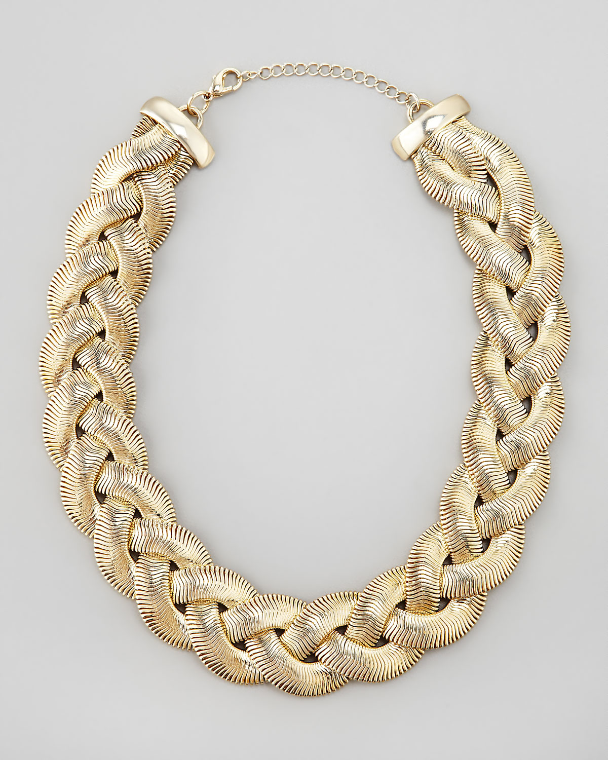 Cara Braided Chain Necklace In Gold Lyst