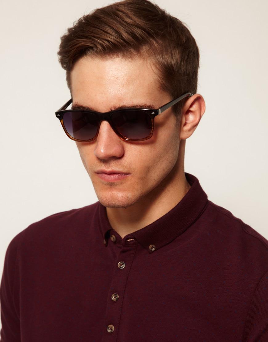 Sunglasses Island  river island wayfarer sunglasses in black for men lyst