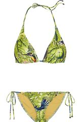 We Are Handsome The Messengers Printed Triangle Bikini