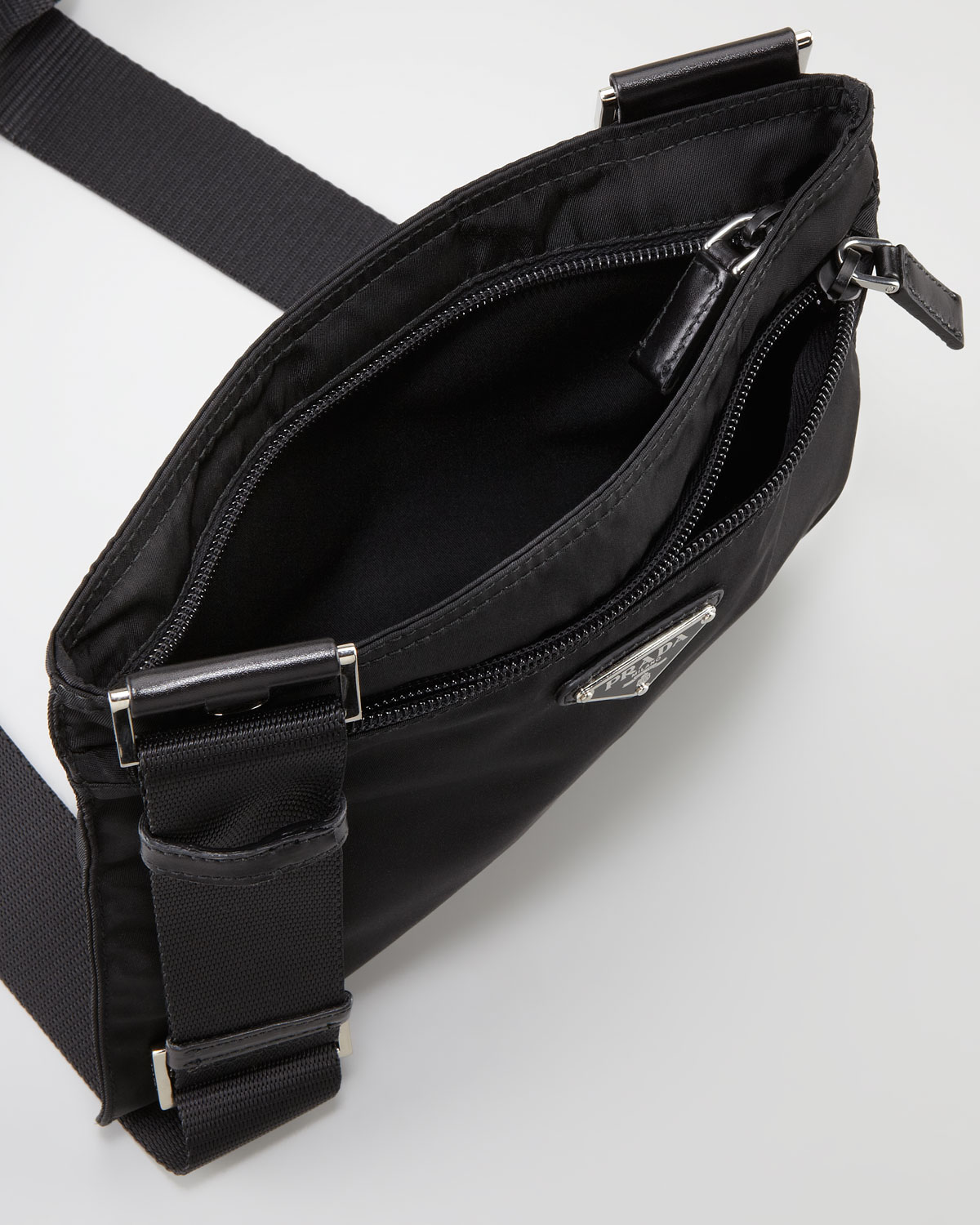 prada vela crossbody messenger bag black