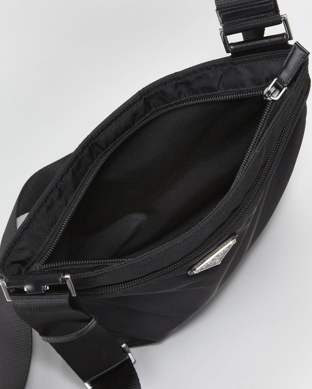 c9bf95b9b58f Prada Vela Large Crossbody Messenger Bag Nero in Black for Men - Lyst