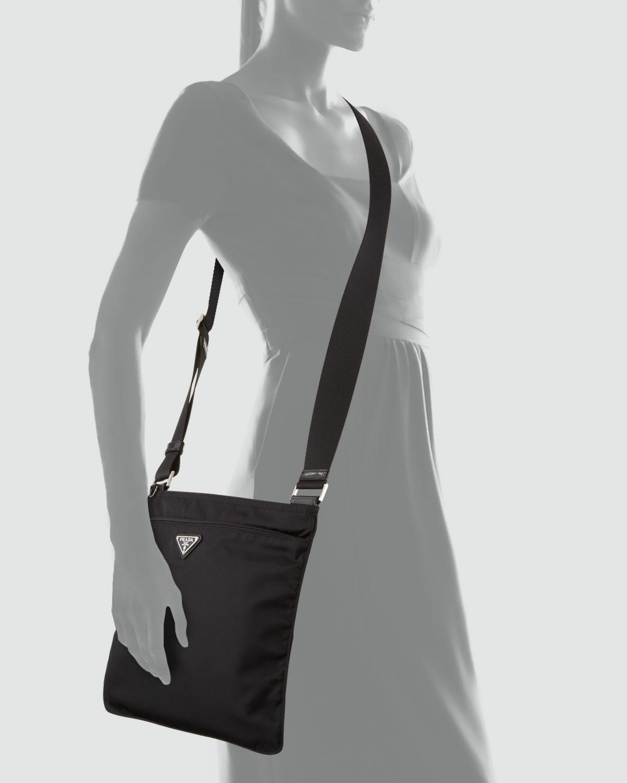 51f6b059905f7e Prada Vela Large Crossbody Messenger Bag Nero in Black for Men - Lyst