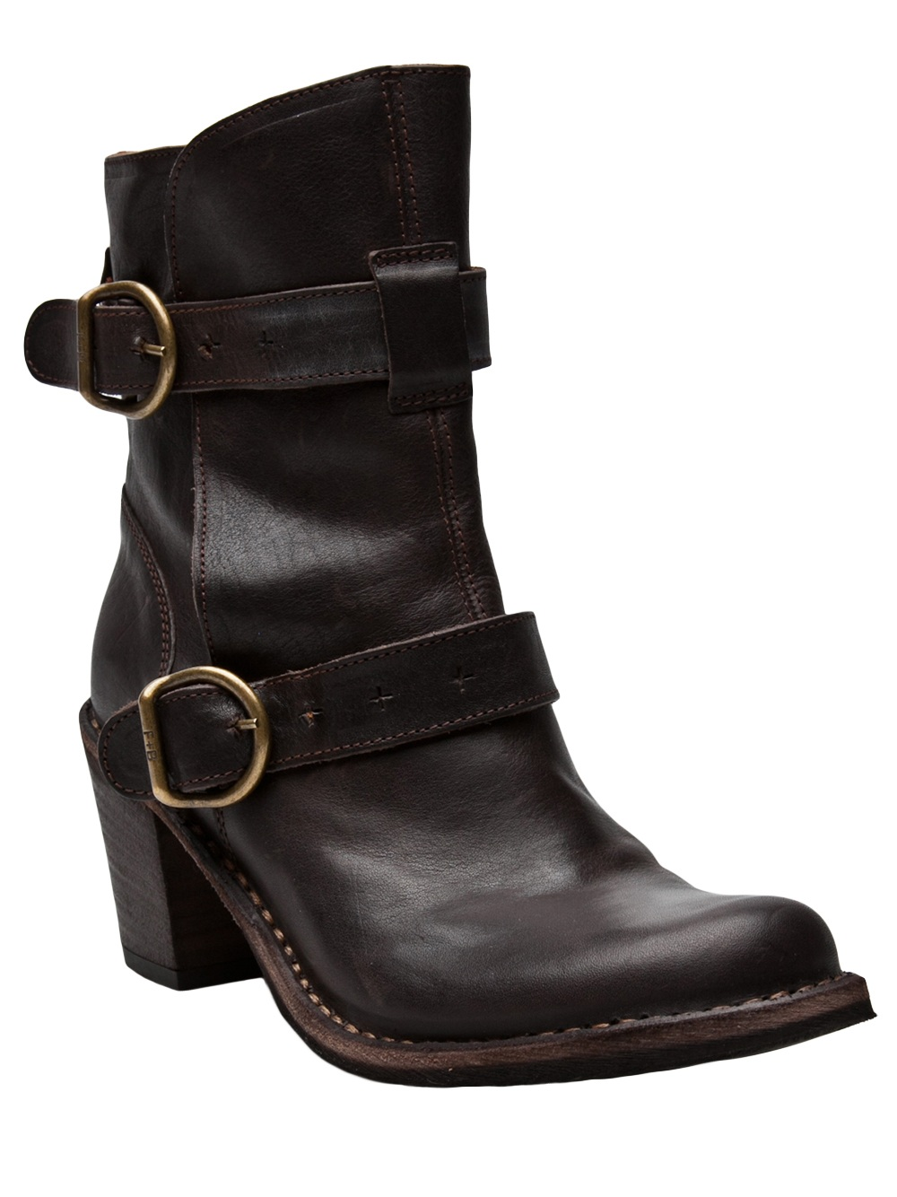fiorentini baker double buckle boot in brown lyst. Black Bedroom Furniture Sets. Home Design Ideas