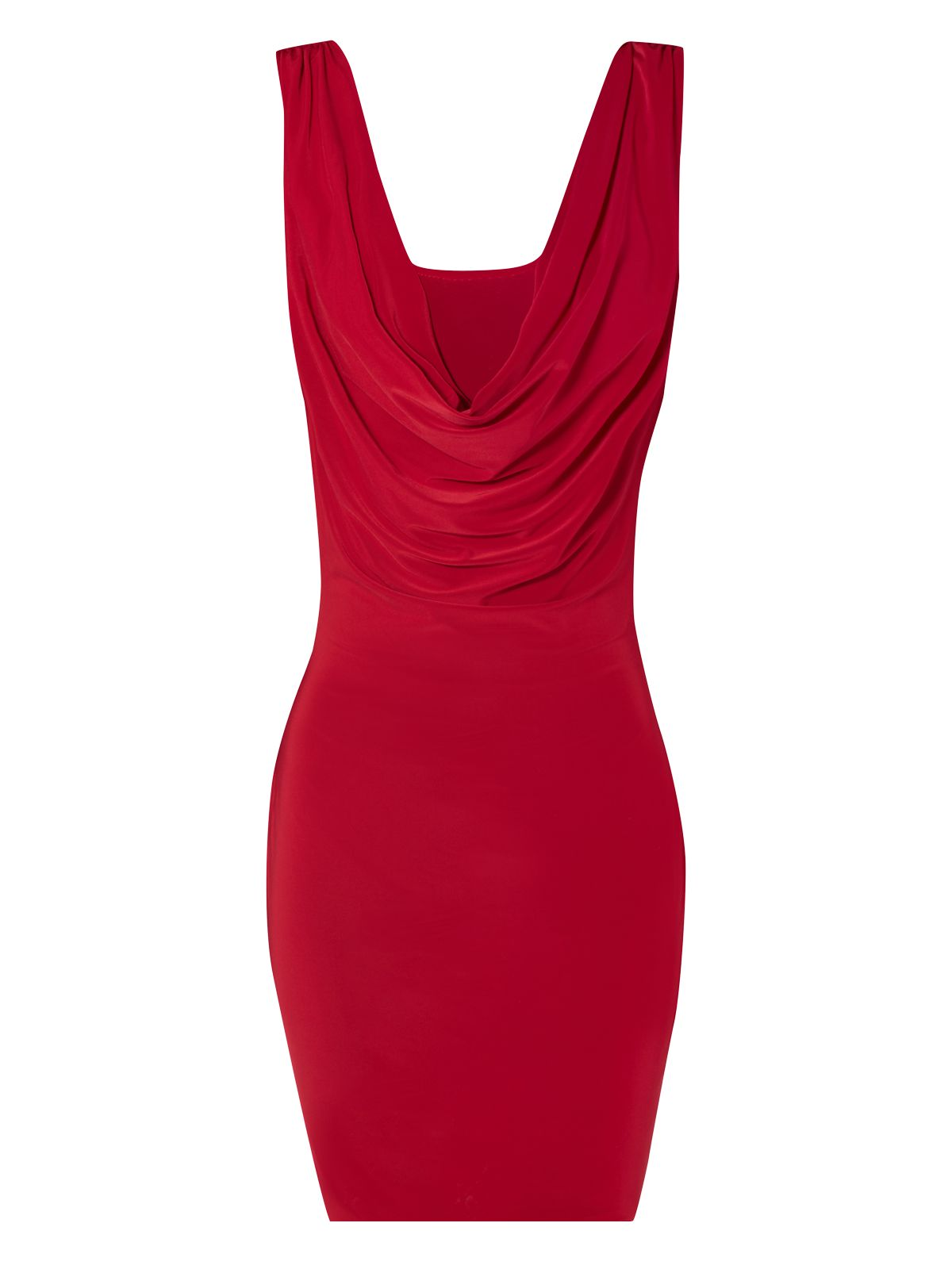 Jane norman Back Cowl Dress in Red | Lyst