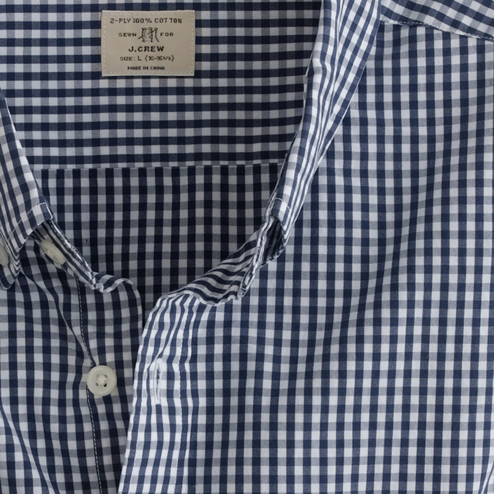 J.crew Secret Wash Button-down Shirt in Medium Gingham in Blue for ...