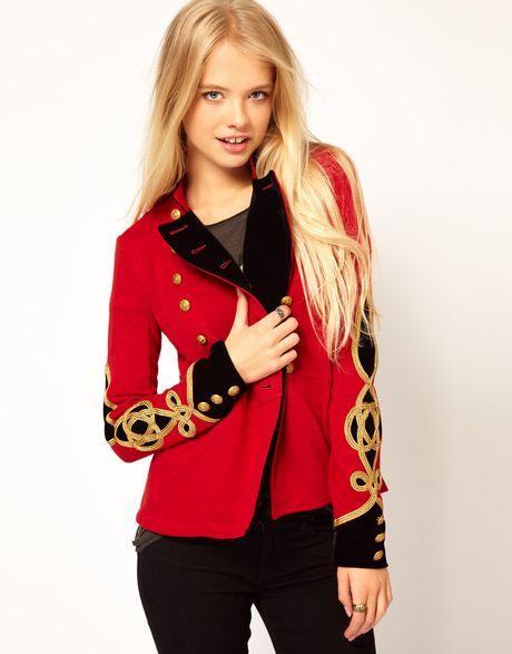 Ralph Lauren Military Jacket In Red Lyst