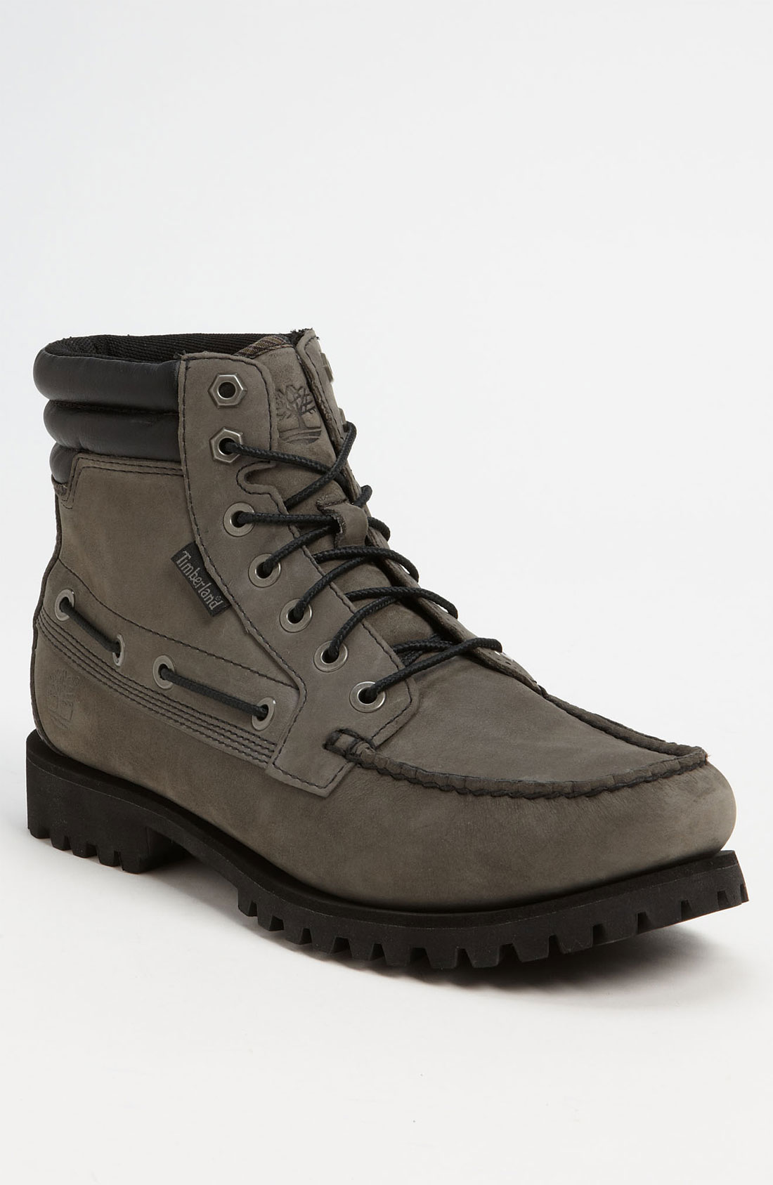 timberland oakwell moc toe boot in gray for men grey. Black Bedroom Furniture Sets. Home Design Ideas