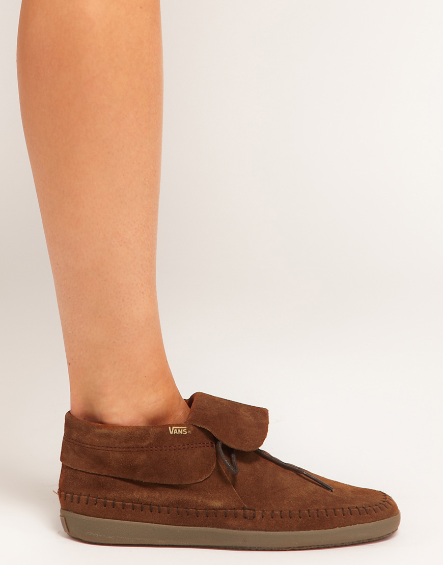 b631db6b52d1e6 Lyst - Vans Surf Mohikan Brown Ankle Boots in Brown