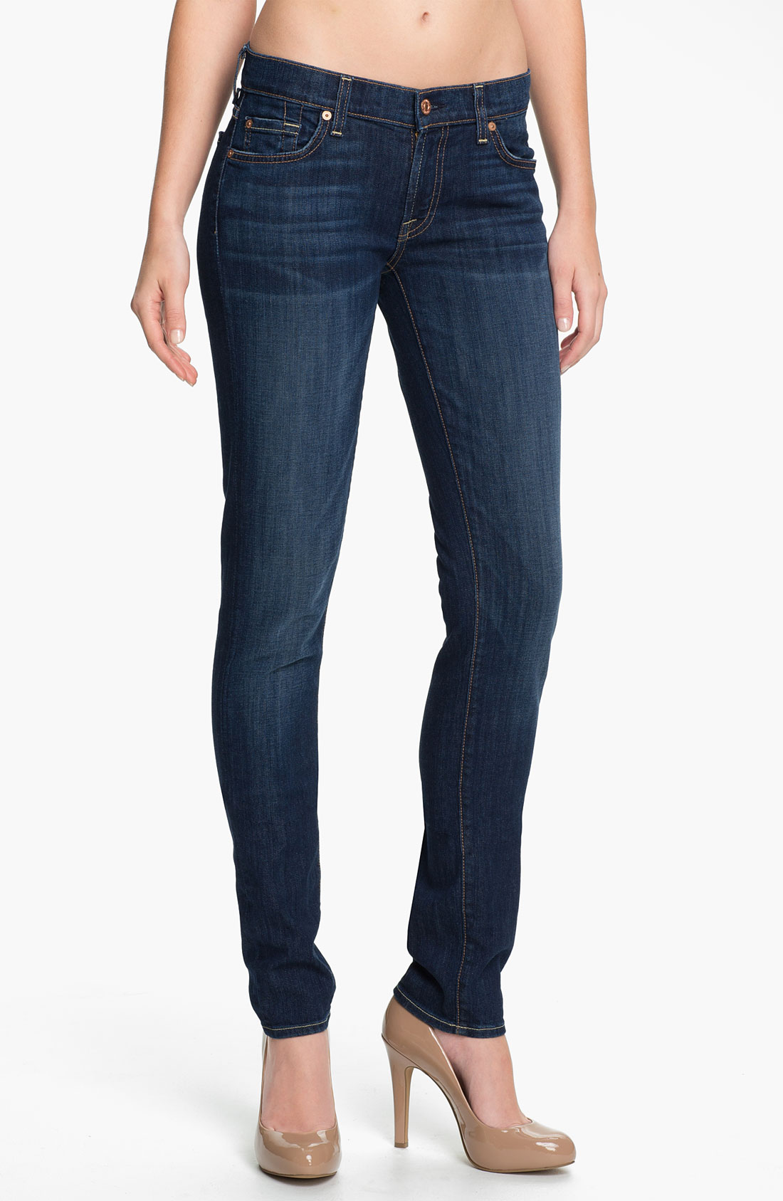 7 for all mankind roxanne skinny stretch jeans warm medium. Black Bedroom Furniture Sets. Home Design Ideas