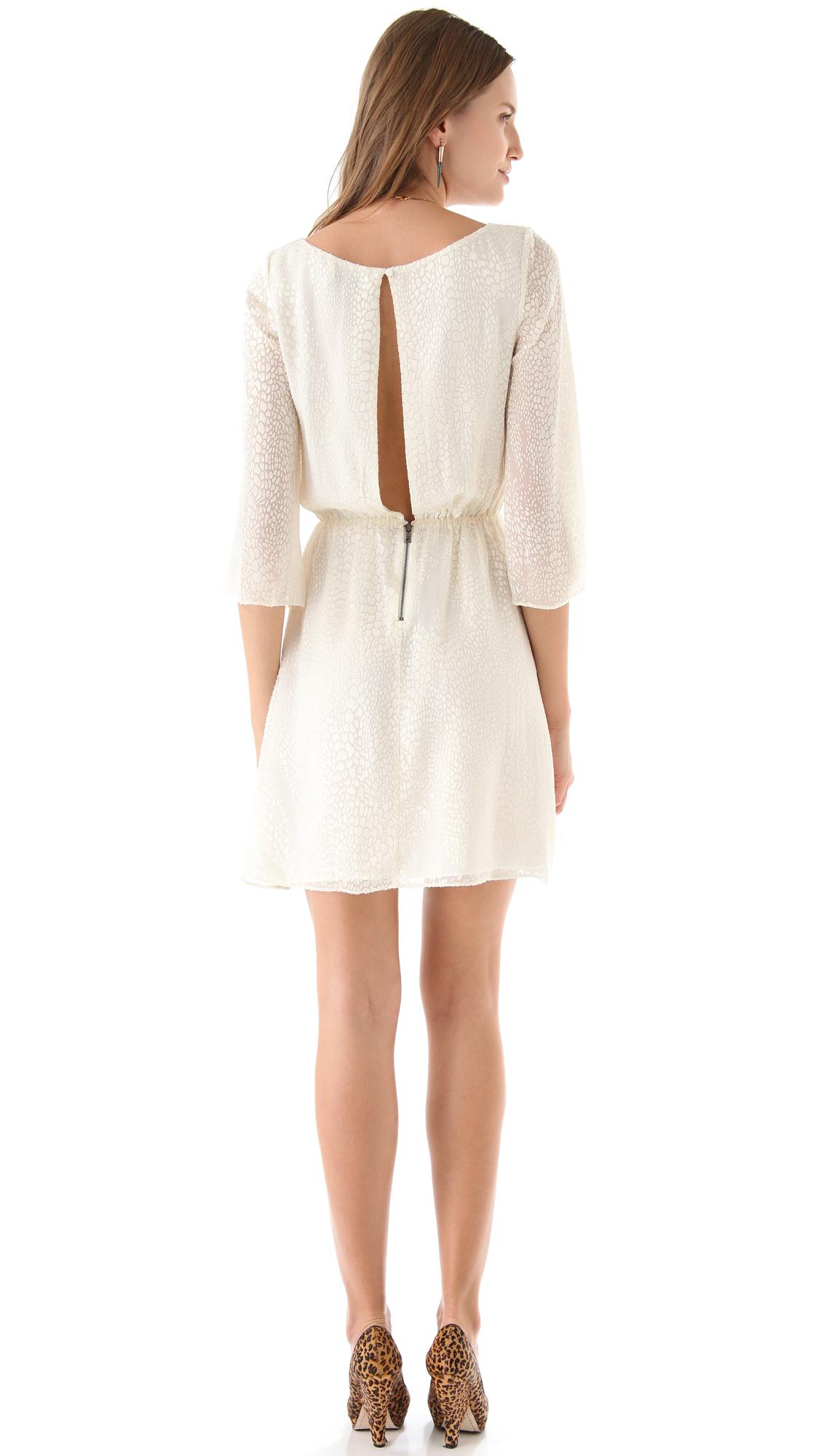 Alice olivia Marika Bell Sleeve Dress in White Lyst