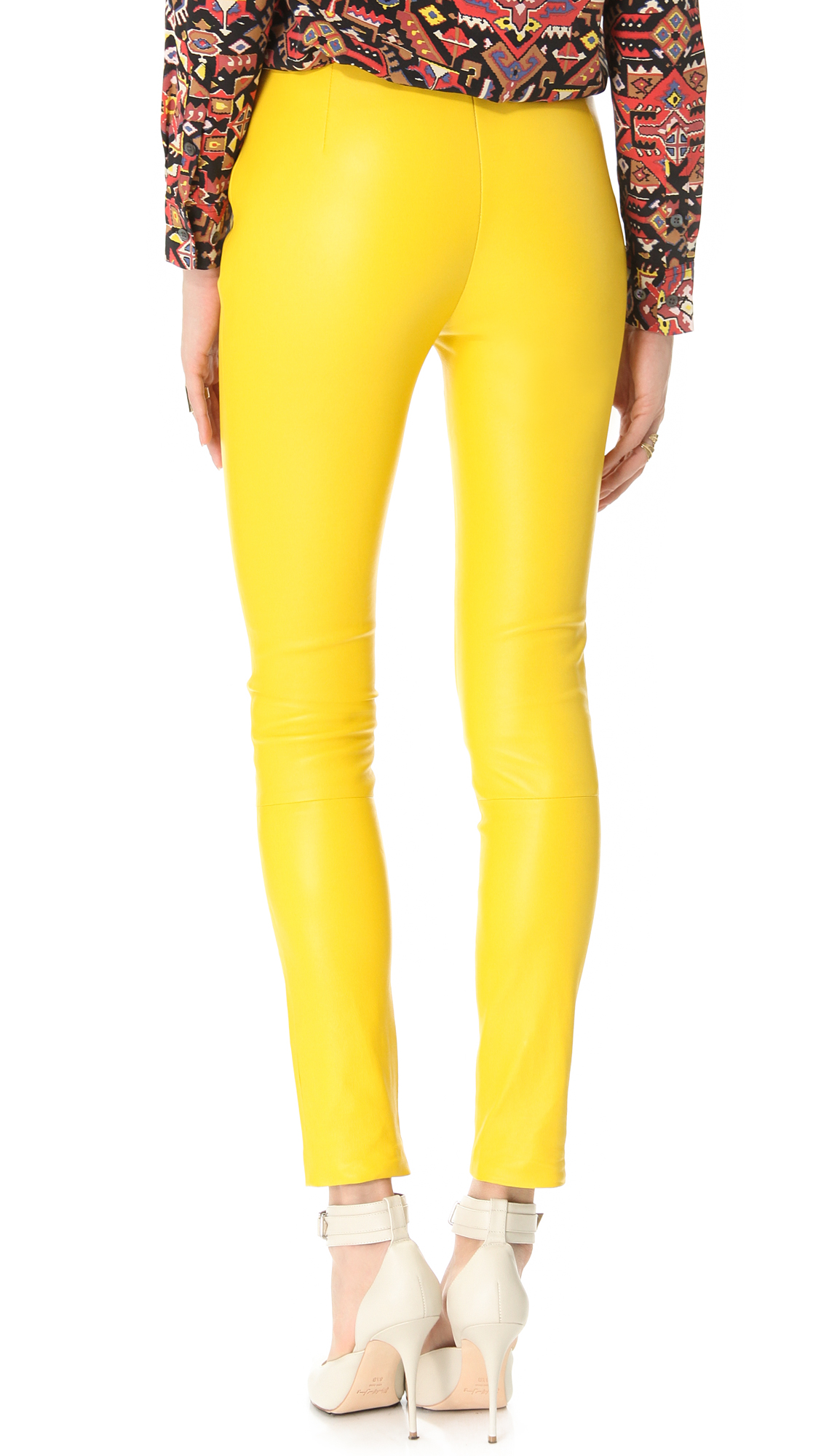 Beautiful Tripp NYCThe Skinny Twill Pant In Yellow Pants For Women  Polyvore
