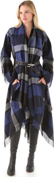 Donna Karan New York Blanket Coat in Blue (navy)