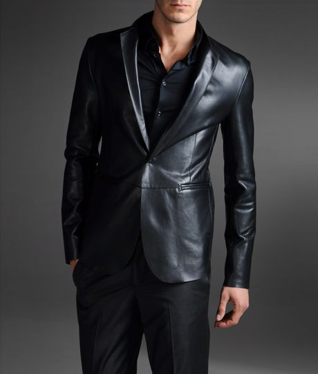 This Armani Jeans Leather Jacket instantly elevates your weekend style