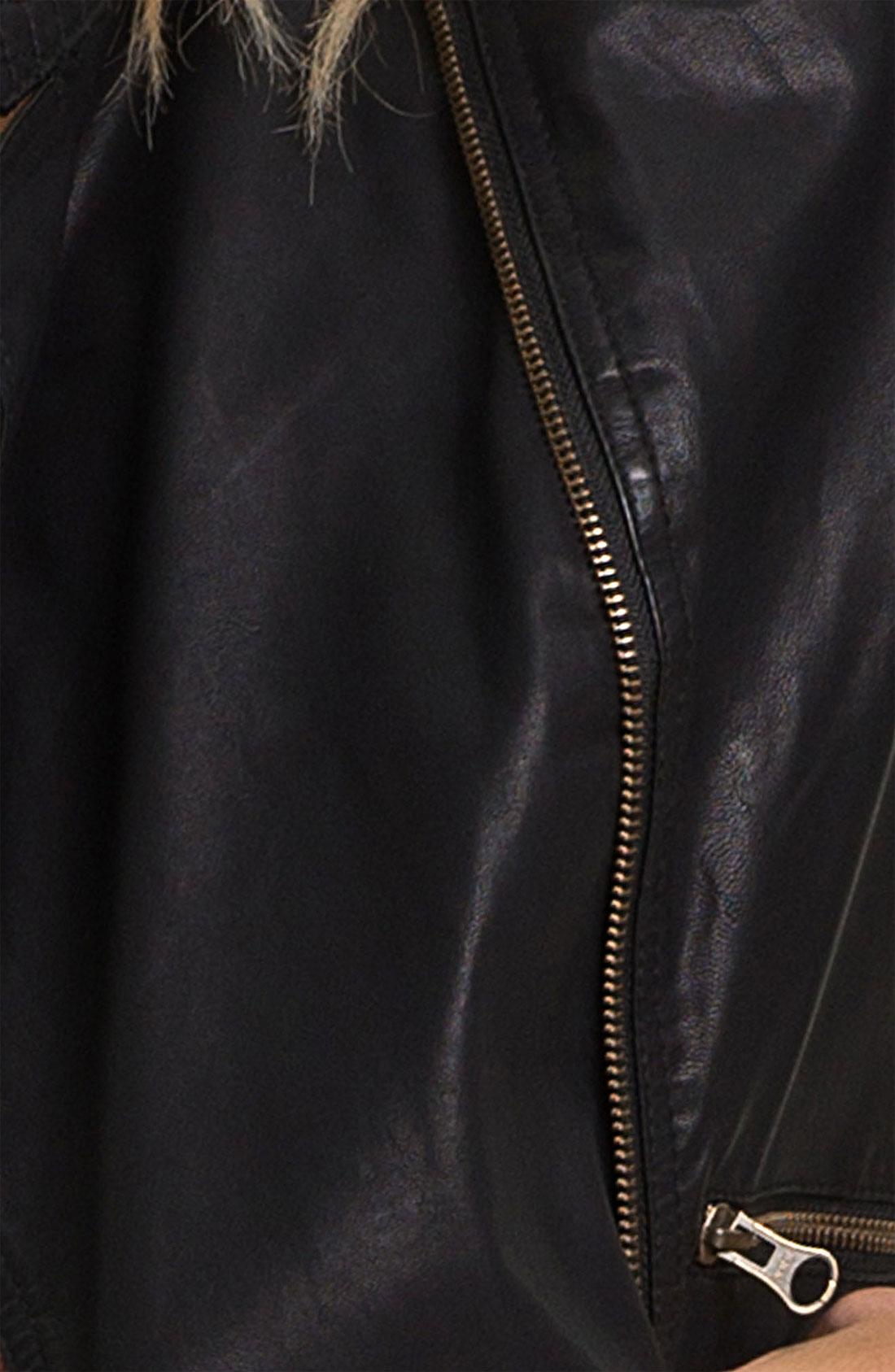 Free people sunburst faux leather motorcycle jacket black for Define faux leather