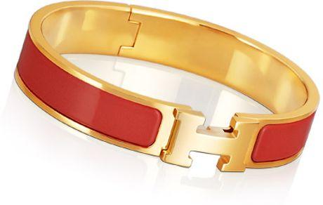 Hermès Clic H Bracelet in Red